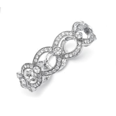 Vintage-Style Stretch Austrian Crystal Bracelet