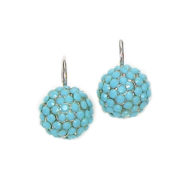 Keira Crystal Cluster Earring - Turquoise