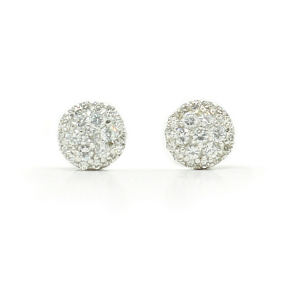 Roxanne Sterling Silver Bridal Earrings