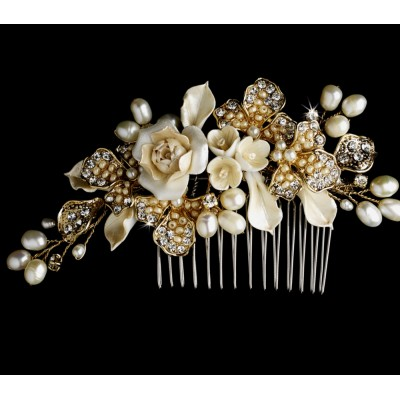 Gold Bridal Jewellery, Gold Hair Accessories, Gold Special Occasion Jewellery