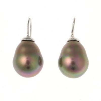 Baroque Pearl Drop Earrings (Mocha)