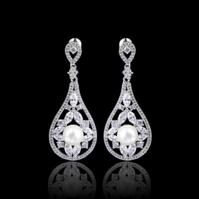 Tessa Bridal Earring: Luxury Pearl Teardrop