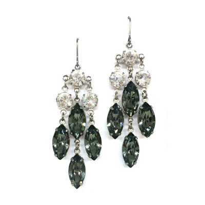 Felicia Swarovski Crystal Bridal Earrings