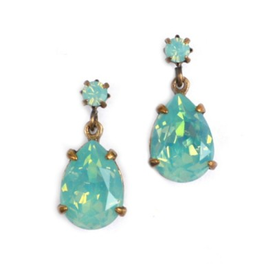 Alice Swarovski Crystal Bridesmaid Earring - Aqua