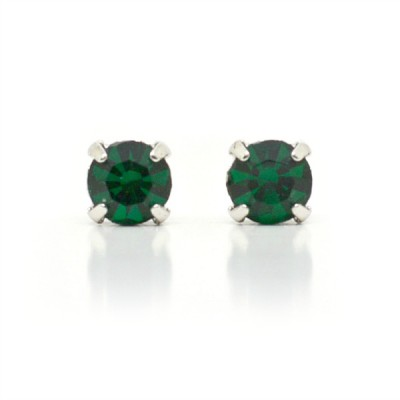 Mirabelle Swarovski Crystal Earring (Mini): Emerald