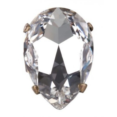 Swarovski Crystal Large Teardrop Ring (Clear)