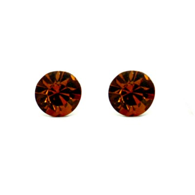 Claire Swarovski Crystal Earring - Chocolate