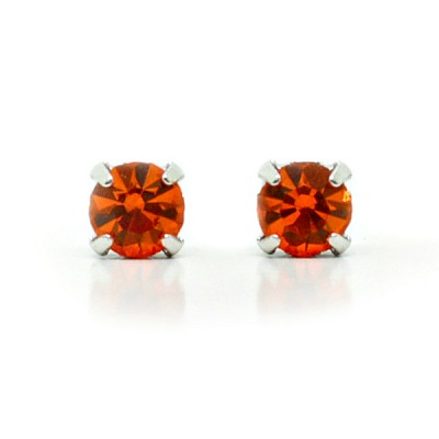 Mirabelle Swarovski Crystal Earring (Mini): Orange