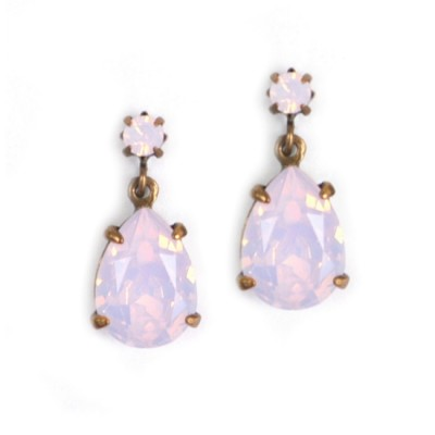Alice Swarovski Crystal Bridesmaid Earring - Rose