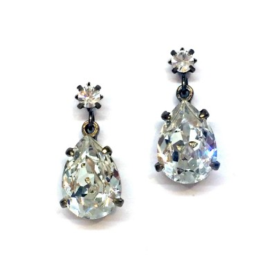 Alice Swarovski Crystal Bridal Earring - Clear