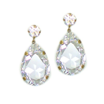 Bijoux Statement Earring: Swarovski Crystal - Clear