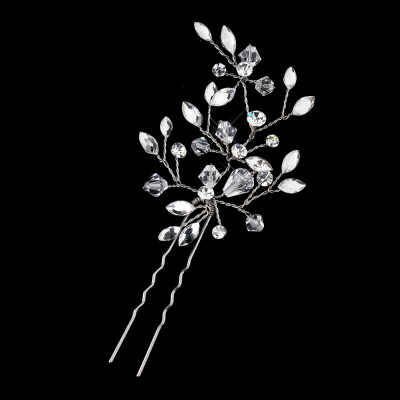 Cate Bridal Pin: Wired Floral Swarovski Hair Pin