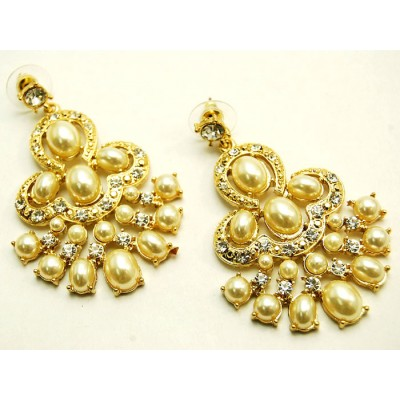 Olympia Bridal Earrings (Gold)