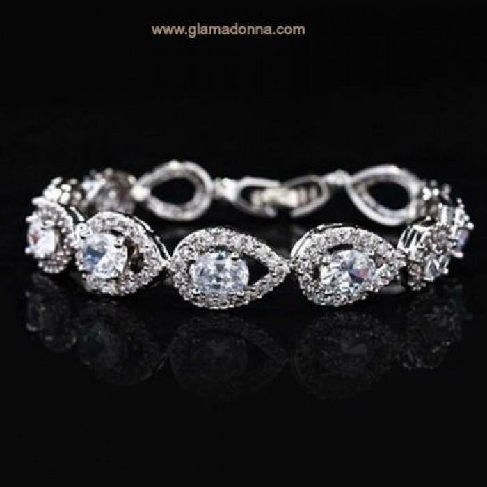 Bridal jewellery the ivory room bridal bracelet wedding agatha wedding bracelet chic vintage teardrops junglespirit Choice Image