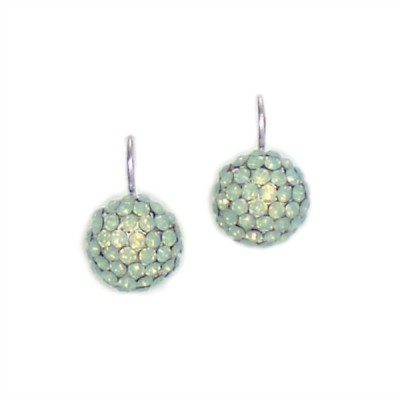 Keira Bridesmaid Earrings - Swarovski Crystal (Mint Green)