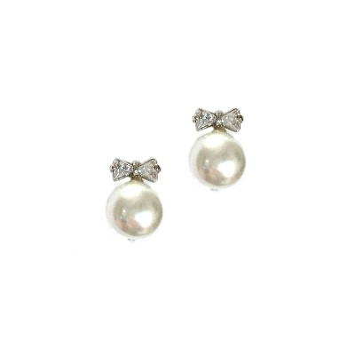 Ivy Wedding Earring: Pretty Sparkle Cluster with Pearl