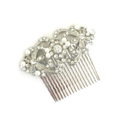Clarence Bridal Comb: Classic Vintage Crystals & Pearls