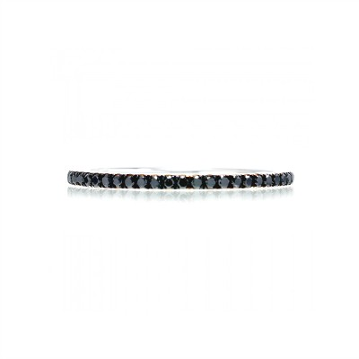 Black Eternity Band in Sterling Silver (X-Large)