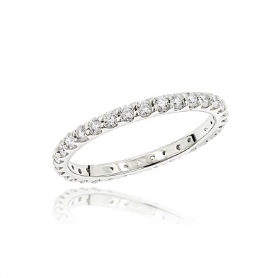 Fine Eternity Band in Sterling Silver (X-Large)