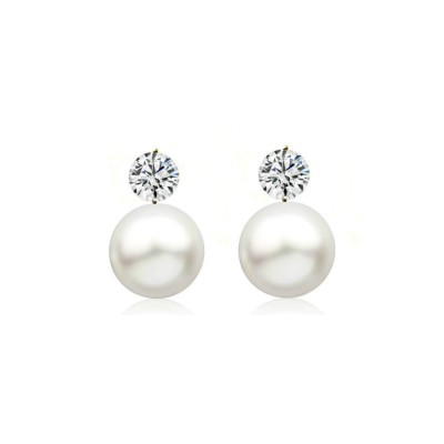 Charlotte Sterling Silver Bridal Earrings