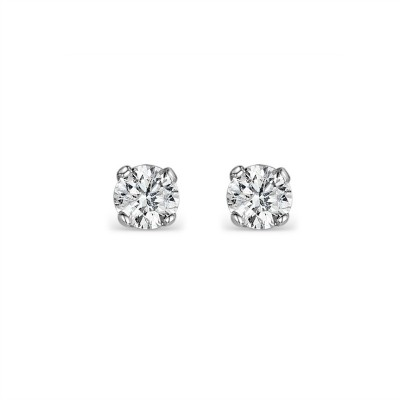 Hannah Sterling Silver Bridal Earrings (3mm)