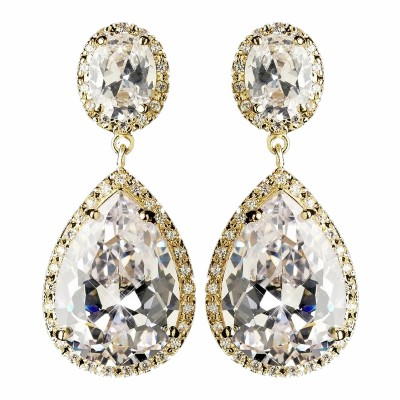 Marilyn Bridal Earrings (Gold)