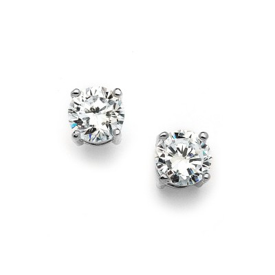 Simone Bridal Stud Earrings (8mm)