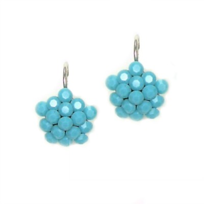 Swarovski Crystal Cluster Earring - Turquoise