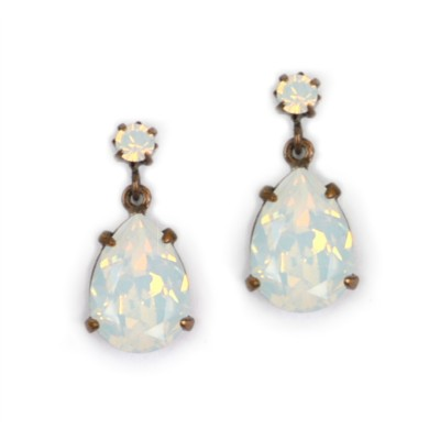 Alice Swarovski Crystal Bridesmaid Earring - Milky White