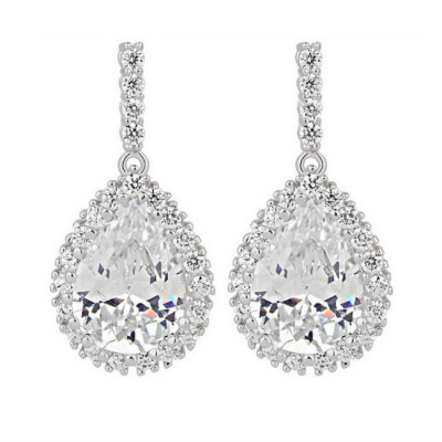 Taylor Bridal Earring: Sparkling Classic Teardrop