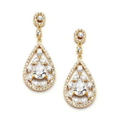 Penelope Bridal Earrings (Gold)
