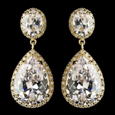 Bridal earrings bridal jewellery online store for beautiful marilyn bridal earrings gold mozeypictures Choice Image