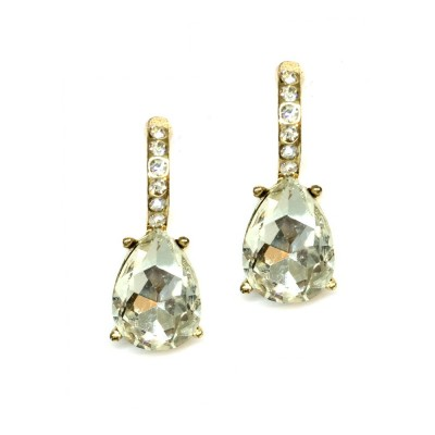 Brittany Wedding Earring: Chic & Classic Teardrop (Gold)