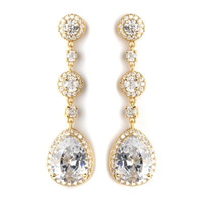 Melissa Bridal Earrings (Gold)