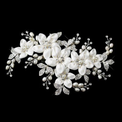 Arden Headpiece: Luxury Flowers, Crystals & Pearls