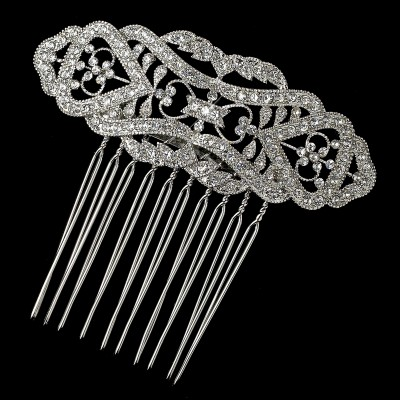 Classic Vintage Crystal Wedding Hair Comb (Large)