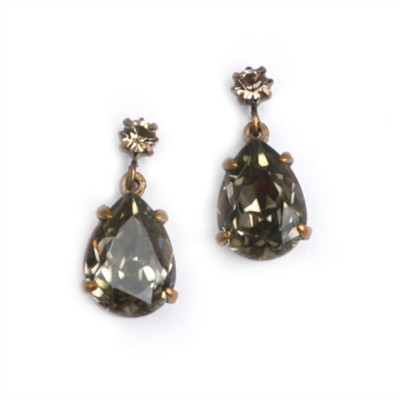 Alice Swarovski Crystal Bridesmaid Earring - Smoke