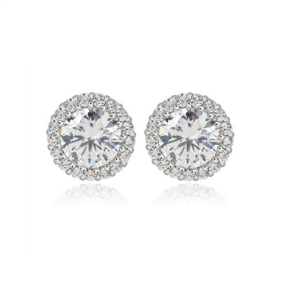 Luella Event Earring: Petite Stud with Fine Halo