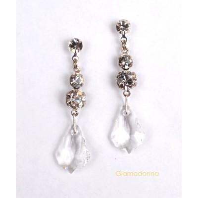 Swarovski Crystal Baroque Drop (Clear)