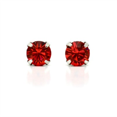 Mirabelle Swarovski Crystal Earring (Mini): Red