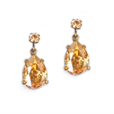 Alice Swarovski Crystal Bridesmaid Earring - Champagne