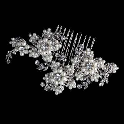 Whitney Bridal Comb: Vintage Pearl Headpiece