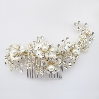 Aerin Bridal Headpiece (Gold)
