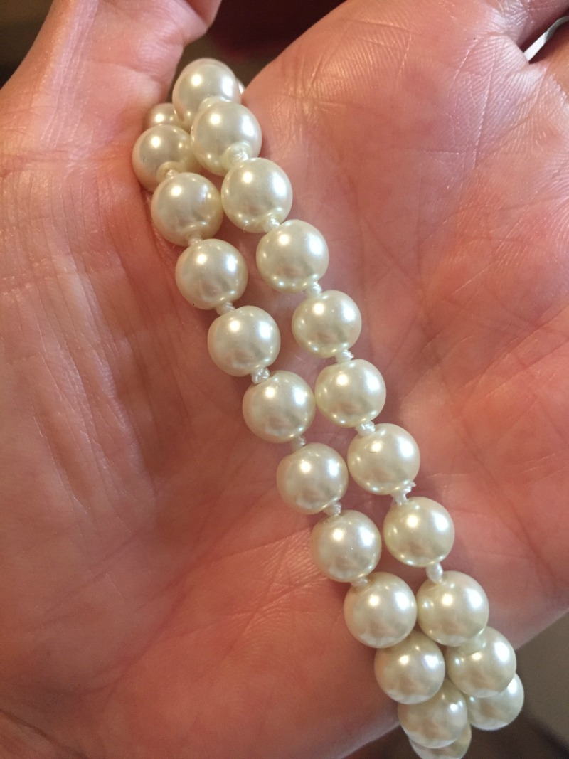 long pearl bridal necklace