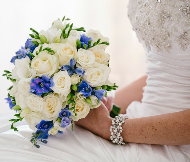 Real brides wedding bracelet and bouquet sydney