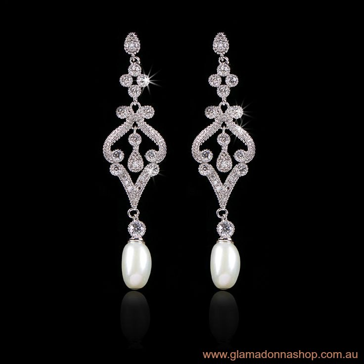 vintage bridal jewellery earrings